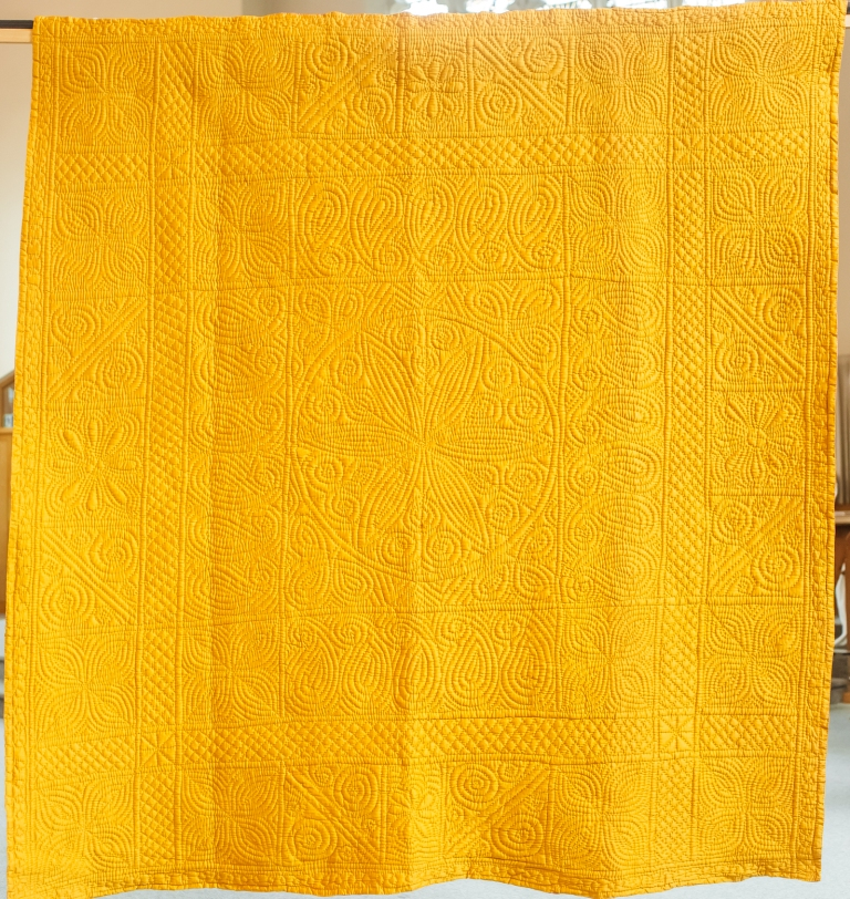 Deep yellow quilt