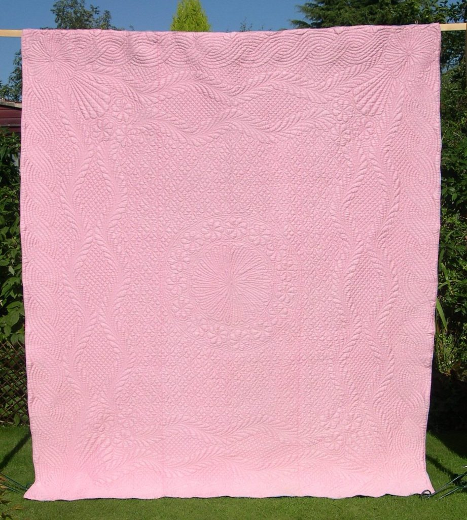 Pink wholecloth quilt