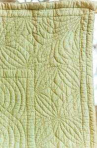 Another corner of the green quilt