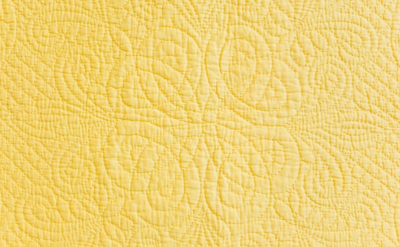 Hand quilted continuous knot design