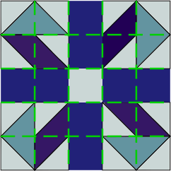 Gridlines over Jack-in-a-Box block