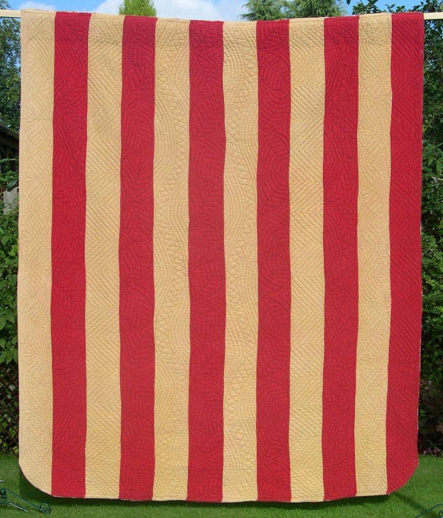 Ten strips of alternating colours