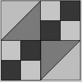 Black, white and gray Northern Lights block