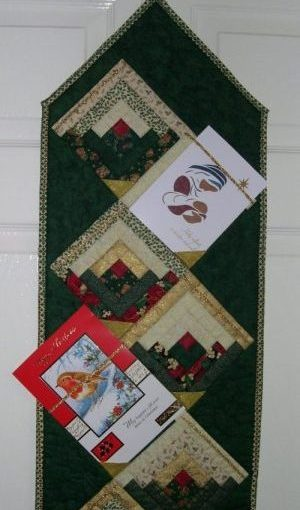 Christmas Card hanger close-up
