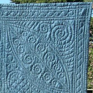 Blue wholecloth quilt
