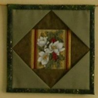 Square patchwork unit in green