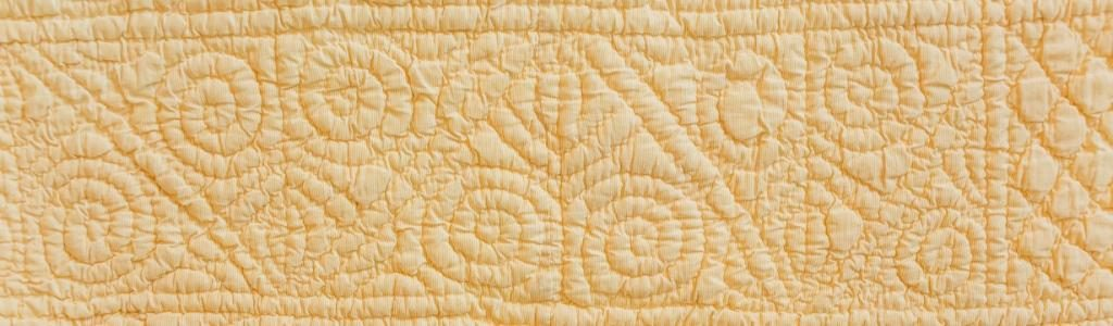 Hand quilted border design
