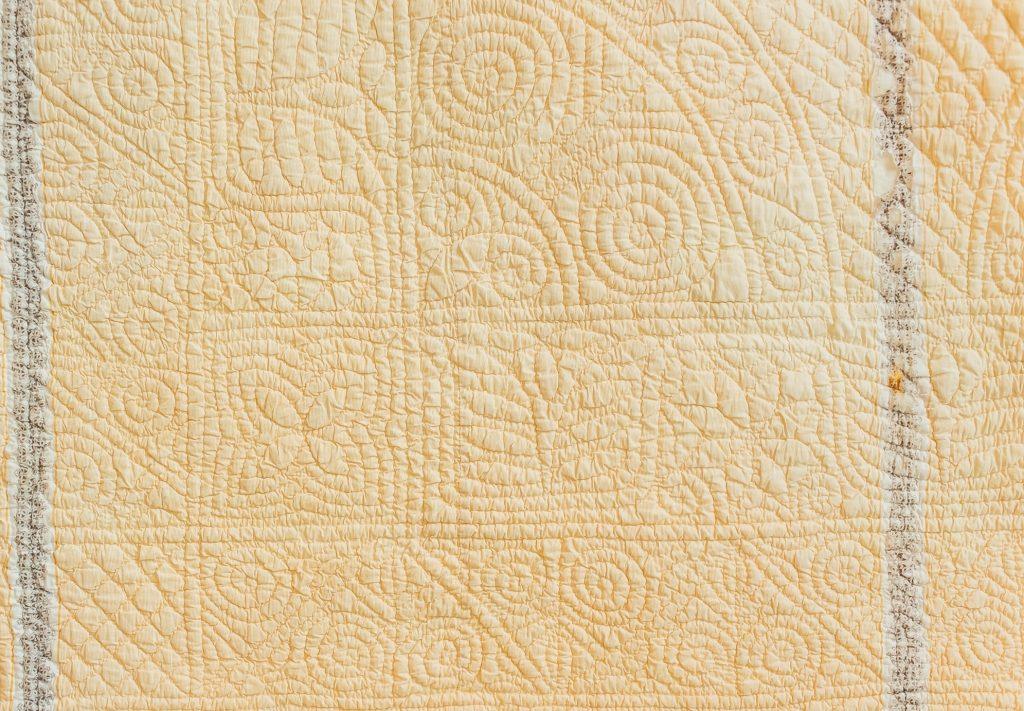 Corner section of welsh quilt