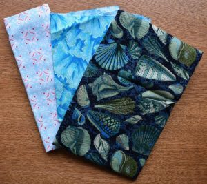 Three fabrics which contrast well