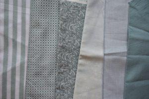 Pale blue-green fabrics