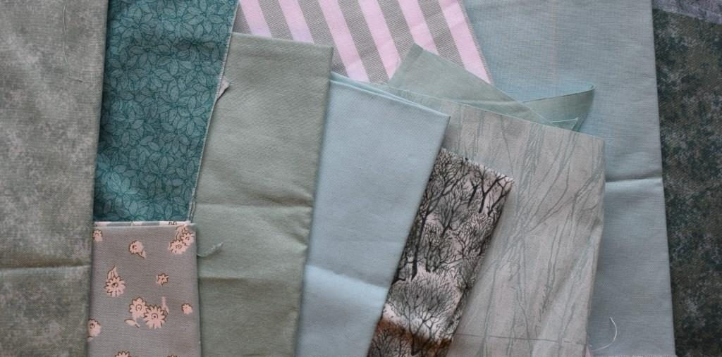 Pale blue-green fabrics
