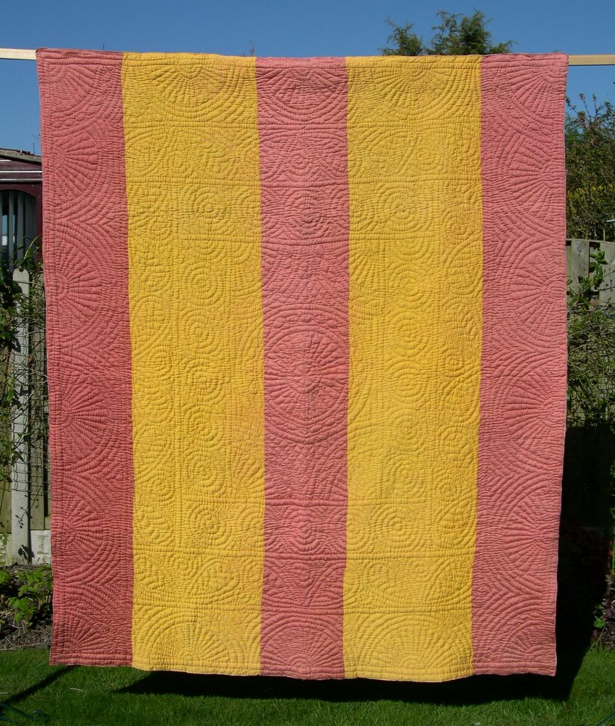 Pink and Yellow quilt