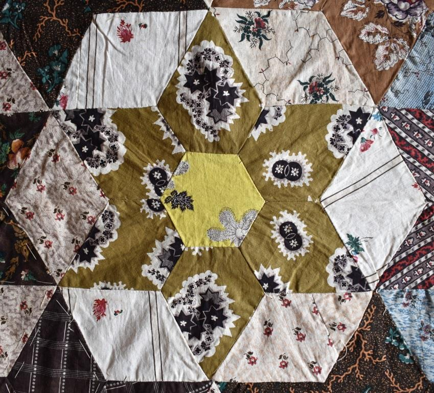 Khaki coloured patchwork star
