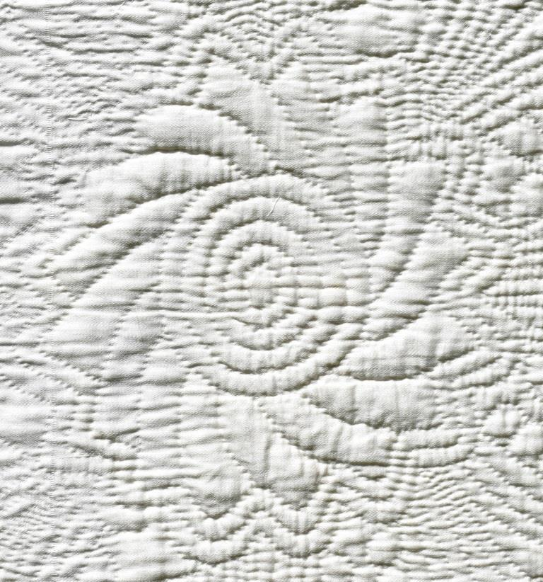 White quilted flower