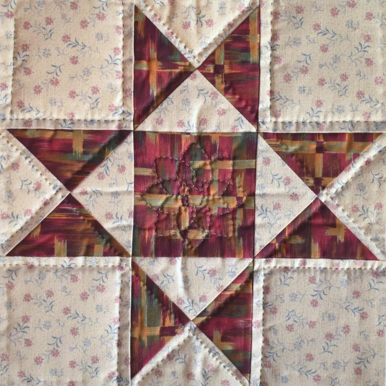 Pink and cream patchwork star