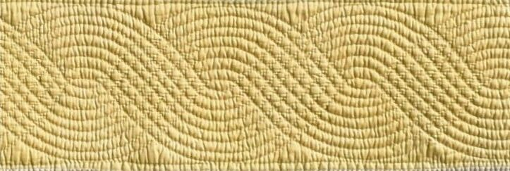 Yellow quilted cable