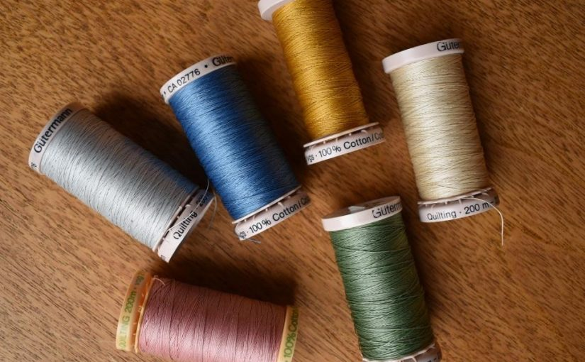 Various colours of Gutermann quilting thread