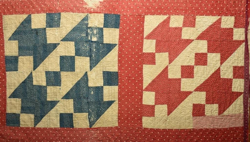 Blue & red patchwork