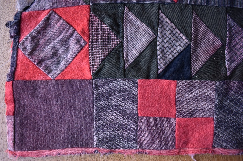 Edge of patchwork quilt