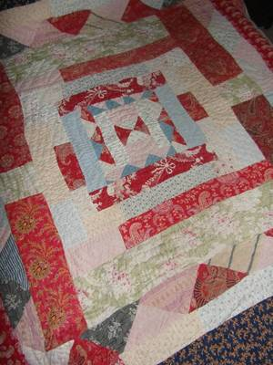 Quilt made with repeated borders
