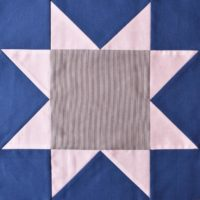 Blue & white patchwork star