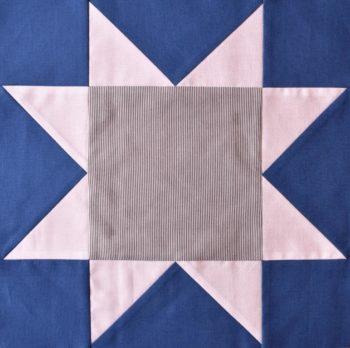 Blue & white patchwork star