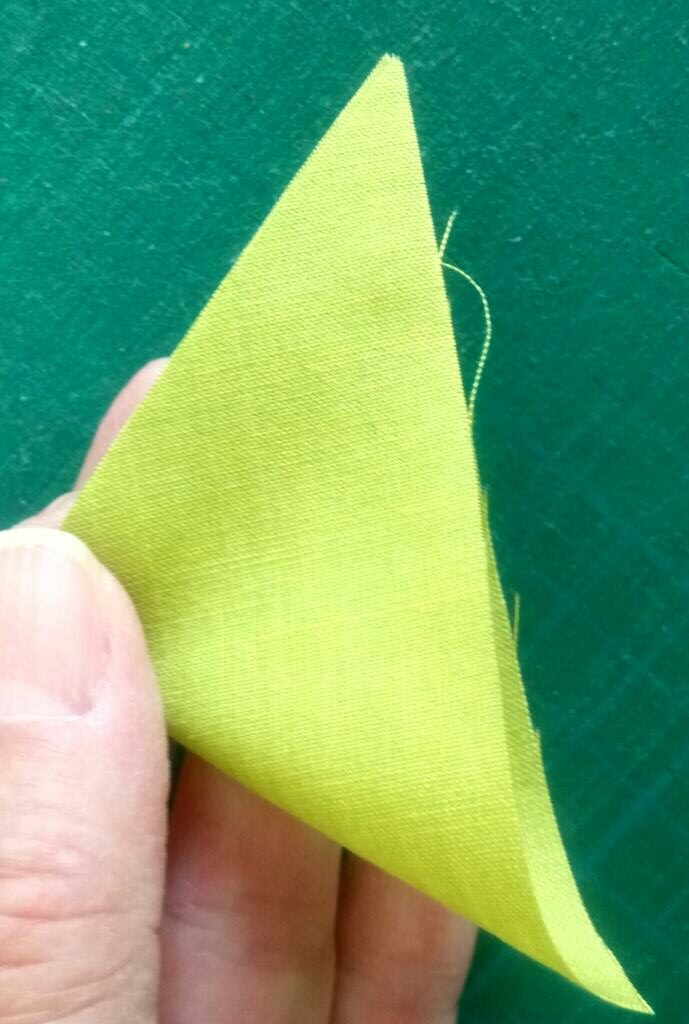 Folding triangle in half